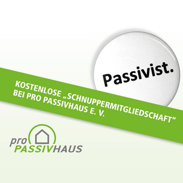 Kostenlos: Schnuppermitgliedschaft bei Pro Passivhaus