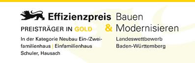 Siegel-Effizienzpreis-Baden-Württemberg-Gold-Einfamilienhaus-Neubau-Schuler-architekten