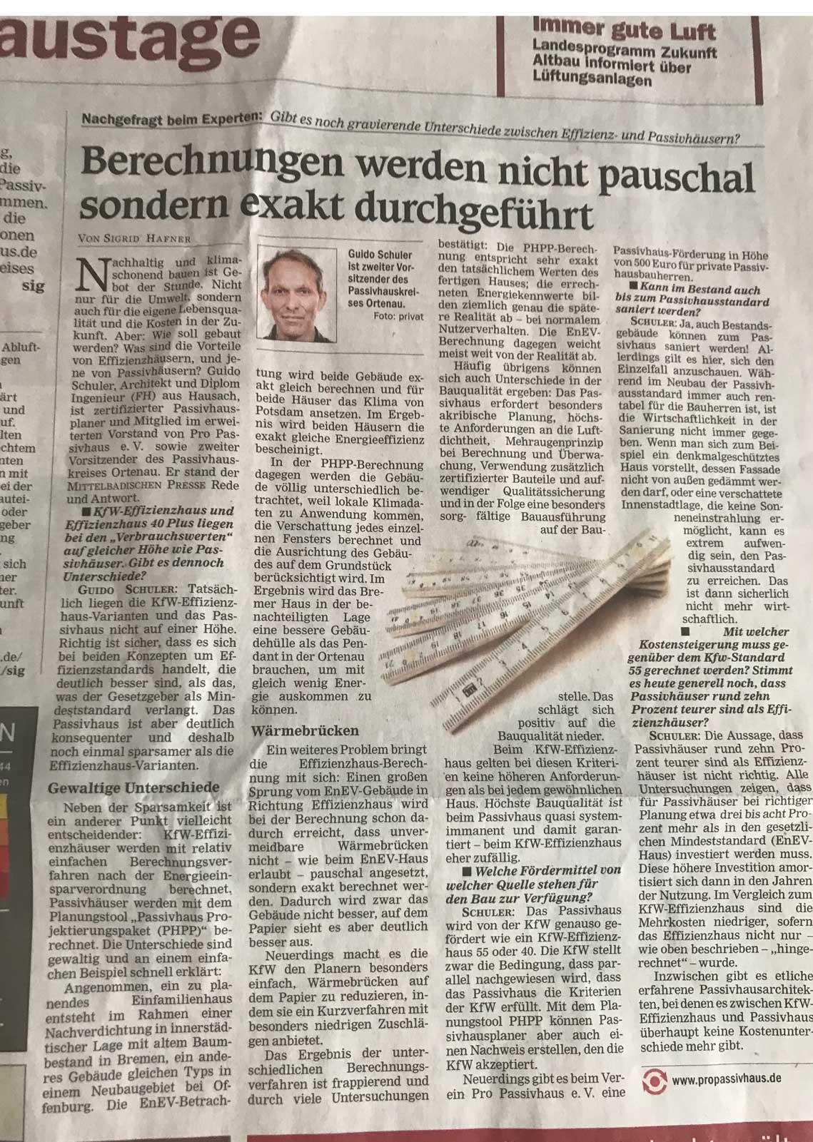 Passivhaus vs Effizienzhaus – Offenburger Tageblatt